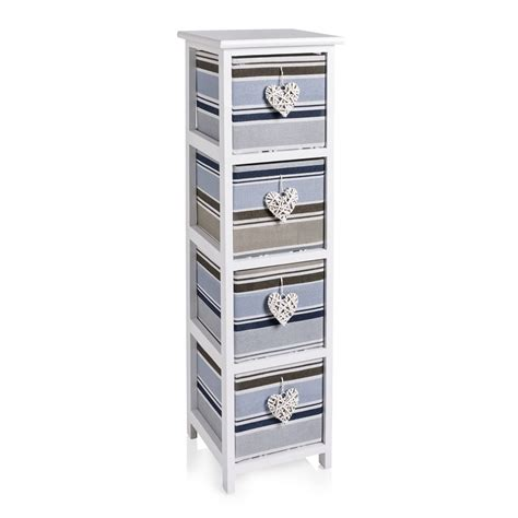 Storage Units For Bathrooms Wilko Nautical Stripe 4 Drawer Unit At Wilko