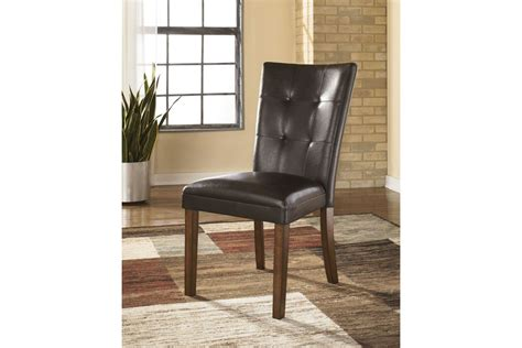 lacey dining side chairs  medium brown set    ashley