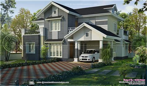 kerala home design thiruvalla sober color kerala villa
