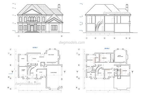 free download house plans dwg