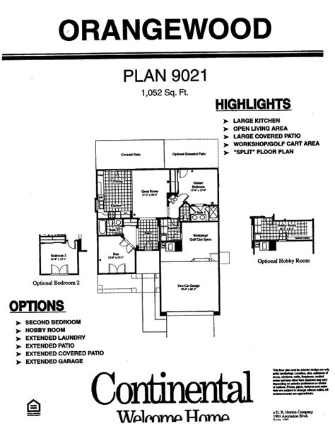 continental homes floor plans arizona