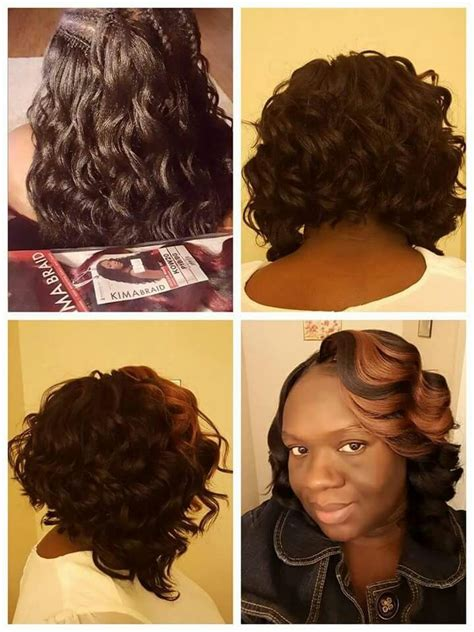 crochet hairstyles bob i looped mine 3 4 times then knotted it i used small