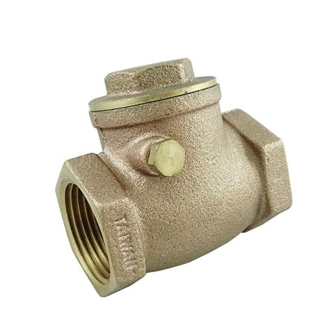 brass swing check valve 3 4 in swing check threaded brass valve uv66204 the