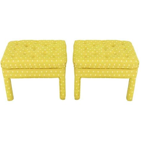 What Does A Yellow Stool by Yellow Stools Ottomans Benches Stools