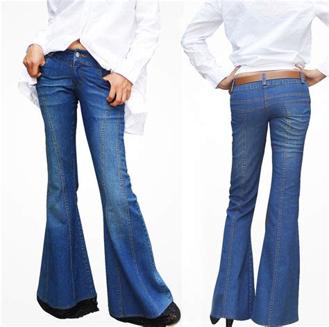 2015 bell bottom jeans 2015 fall women fashion blue lace flare jeans long skinny
