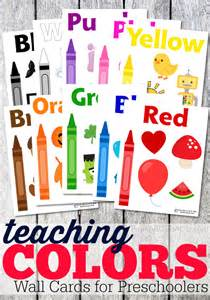 color posters teaching colors wall cards for toddlers from abcs to acts