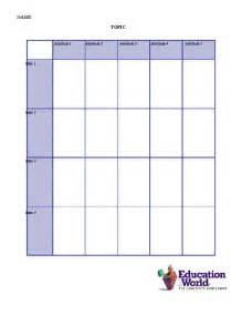 Chart Template by Education World Comparison Chart Template