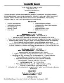 bookkeeper resume sles charge bookkeeper resume sle