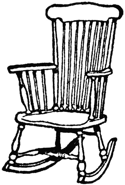 rocking chaise wooden rocking chair clipart etc