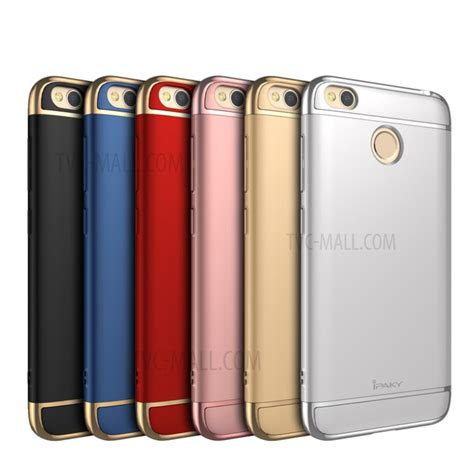 Ipaky 3 In 1 Chrome Xiaomi Redmi 4 Prime Luxury New Generation ipaky for xiaomi redmi 4x electroplated 3 in 1 pc cover tvc mall