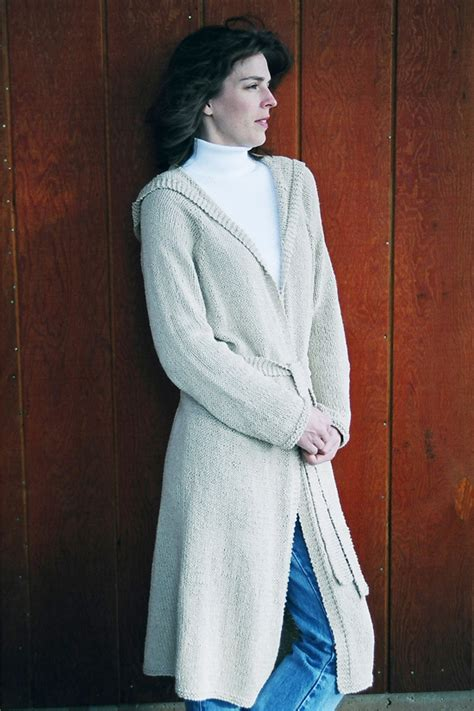 knitting pattern long cardigan 225 neck down long hooded cardigan knitting pure and