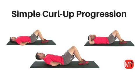 curl up exercise progressions