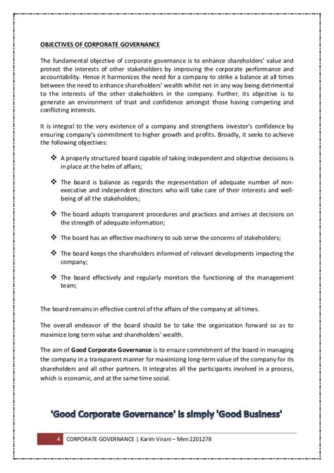 Corporate Governance Uk Essay by Term Paper On Corporate Governance Proofreadit X Fc2