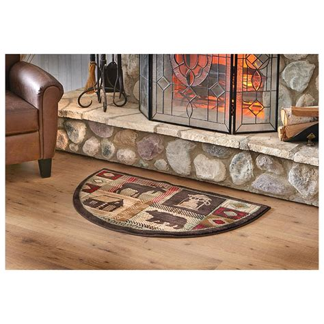 fireplace hearth rugs mohawk lodge hearth rug 233354 rugs at sportsman s guide