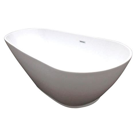 Bathtub With Center Drain by Aqua Modern 5 8 Ft Acrylic Center Drain Freestanding