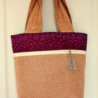 burlap tote bag pattern free free sewing easy sewing tutorials and sewing patterns