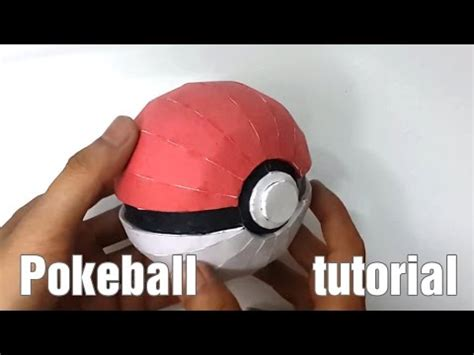 How To Make A Pokeball Out Of Paper - papercraft how to make a paper pokeball