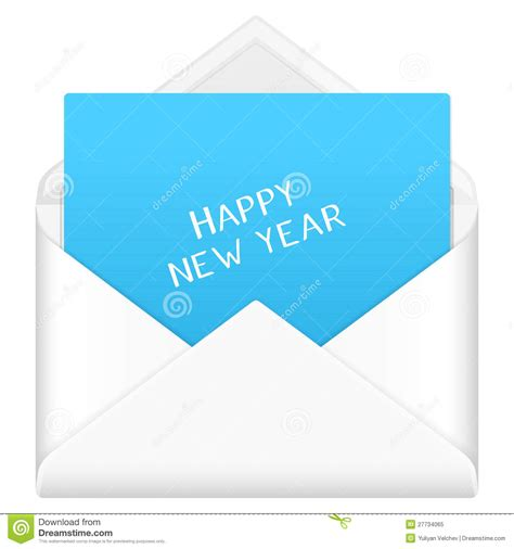new year the envelope envelope happy new year royalty free stock photo image