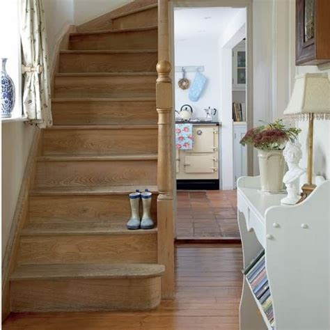 How To Decorate A Hallway With Stairs by How To Decorate A Hallway Wooden Staircases Rustic