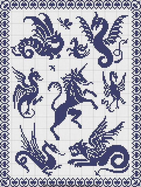 unicorn needlepoint pattern dragons and unicorn x stitch pinterest dragons and