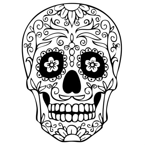 Free Coloring Pages Of Skull Mask Mexican Skull Coloring Pages