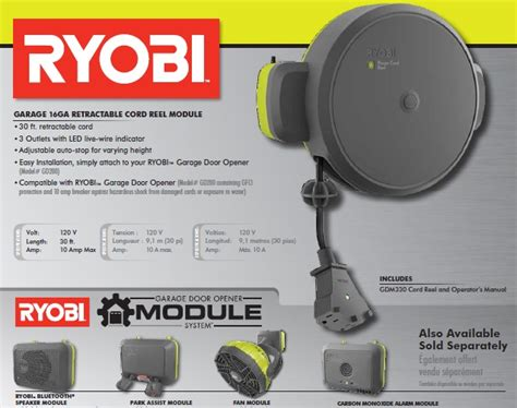 Garage Door Opener Extension Cord Ryobi Garage Retractable Cord Reel Accessory Garage Doors