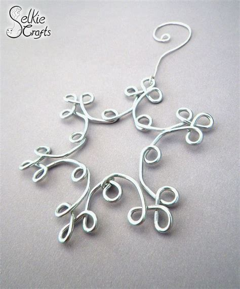 silver wire snowflake christmas decoration christmas