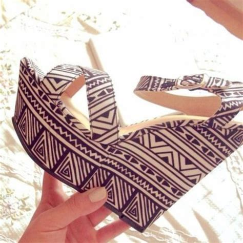 aztec pattern heels shoes aztec wedges tribal pattern heels high heels
