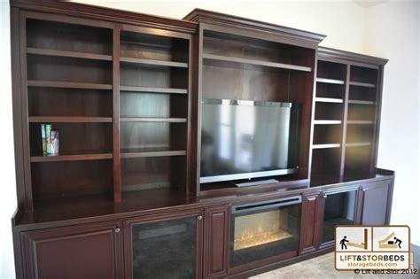 Entertainment Shelving Units by Arizona Custom Entertainment Centers Lift Amp Stor Beds