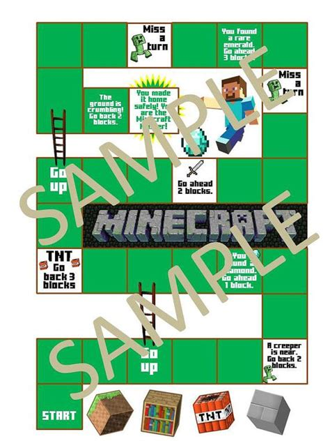 printable minecraft quiz possible party activity printable minecraft board game