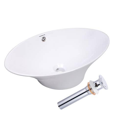 aquaterior bathroom porcelain ceramic vessel sink vanity