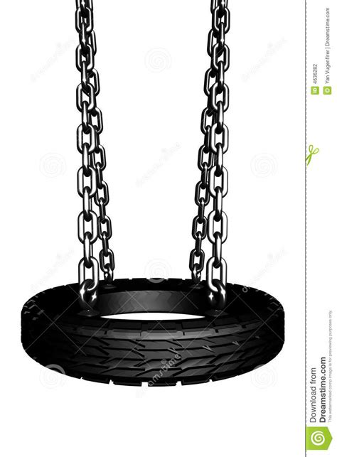 tire swing seat 3d render of a swing with a tire for a seat stock