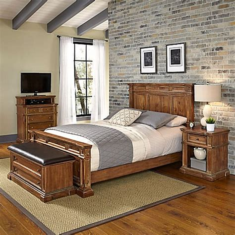 types of bedroom furniture pieces home styles americana vintage 4 piece bedroom set in