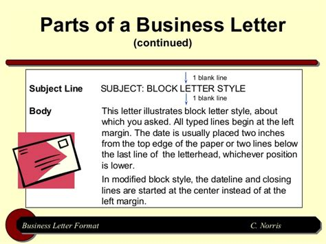 Block Style Business Letter With Subject Line business letter format subject line letter format 2017