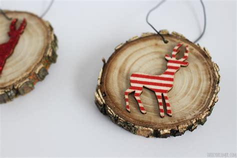 Wood Christmas Tree Ornaments - deer wood slice ornaments rustic christmas
