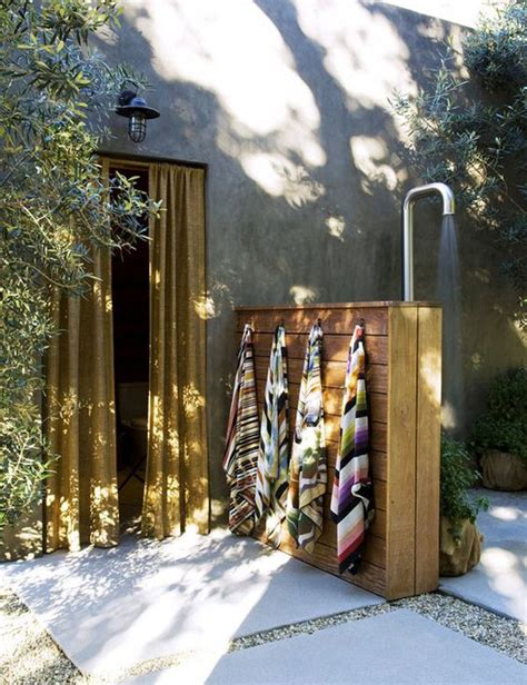 outdoor bathroom designs with awesome rustic touches