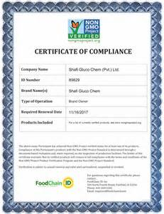 Haccp Certification Letter Certification Letter Of Compliance Conformity Certificate Template Microsoft Word
