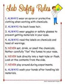 Lab Safety Rules List » Home Design 2017