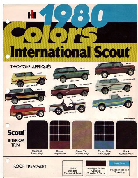 scout colors 80 cvi stuff and trailstar paint colors binderplanet