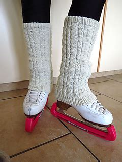 ravelry: ashton figure skating leg warmers pattern by