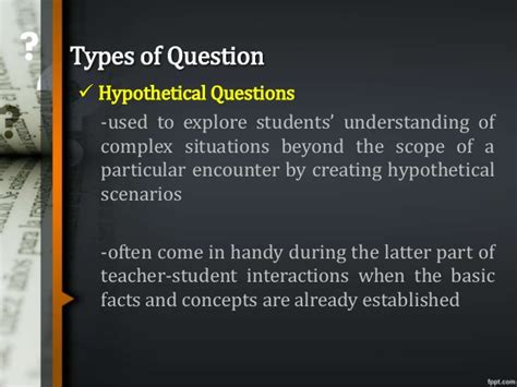 the of questioning s