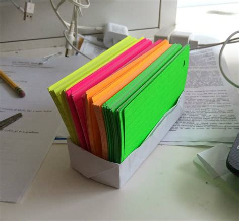 Index Card Origami - origami box for index cards