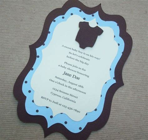 Handmade Baby Shower Invites - 42 best baby shower invitations images on baby