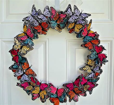 Front Door Summer Decorations Butterfly Wreath Butterfly Door Wreath By Julieshomecreations