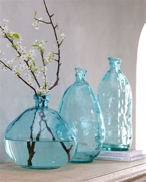 teal blue glass vase accessories home decor
