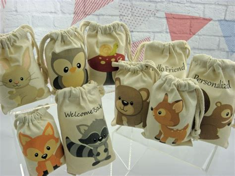 party favor bags forest woodland animals for baby shower