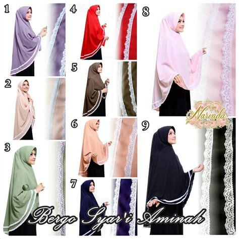 jilbab khimar syar i aminah model kerudung terbaru