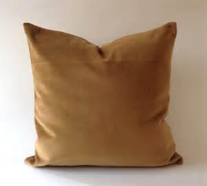 camel brown cotton velvet pillow cover decorative accent