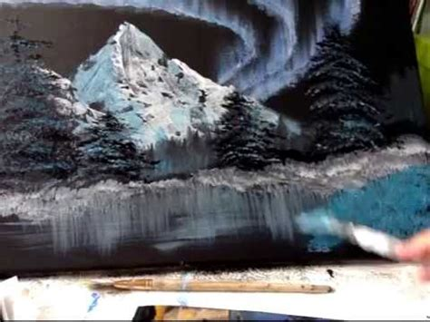 bob ross underwater painting painting the northern lights bob ross style