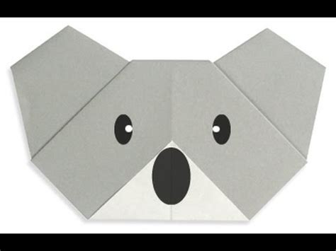 How To Make A Origami Koala - how to make origami koala